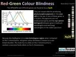 red green colour blindness