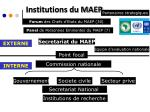 institutions du maep