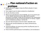 plan national d action en pratique