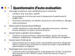 questionnaire d auto evaluation