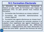 iv 1 formation electorale