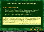 flat round and stock characters2