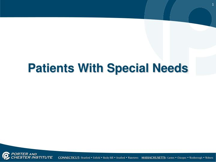patients with special needs n.