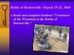 battle of bentonville march 19 21 18652