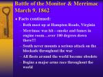 battle of the monitor merrimac march 9 18622