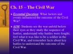 ch 15 the civil war