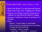 chancellorsville april 30 may 6 1863