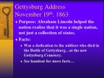 gettysburg address november 19 th 1863