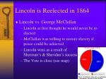 lincoln is reelected in 1864