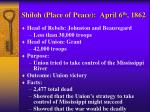 shiloh place of peace april 6 th 1862