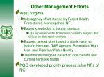 other management efforts