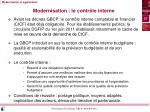 modernisation le contr le interne