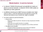 modernisation le service facturier