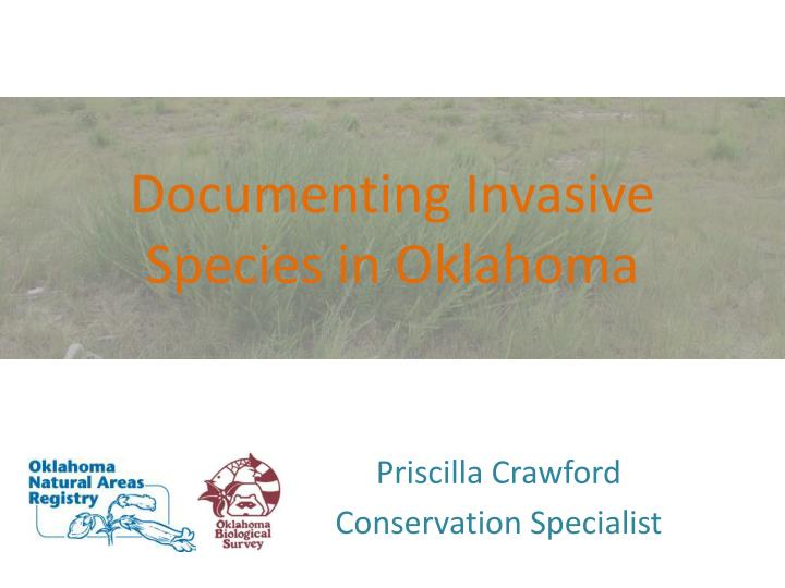 documenting invasive species in oklahoma n.