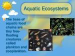 aquatic ecosystems1