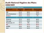 audit national hygi ne des mains 2008 2009