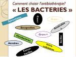comment choisir l antibioth rapie les bacteries