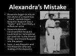 alexandra s mistake