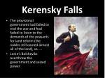 kerensky falls