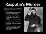 rasputin s murder