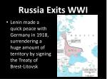 russia exits wwi
