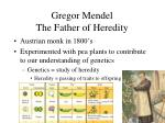gregor mendel the father of heredity