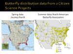 butterfly distribution data from 2 citizen science projects