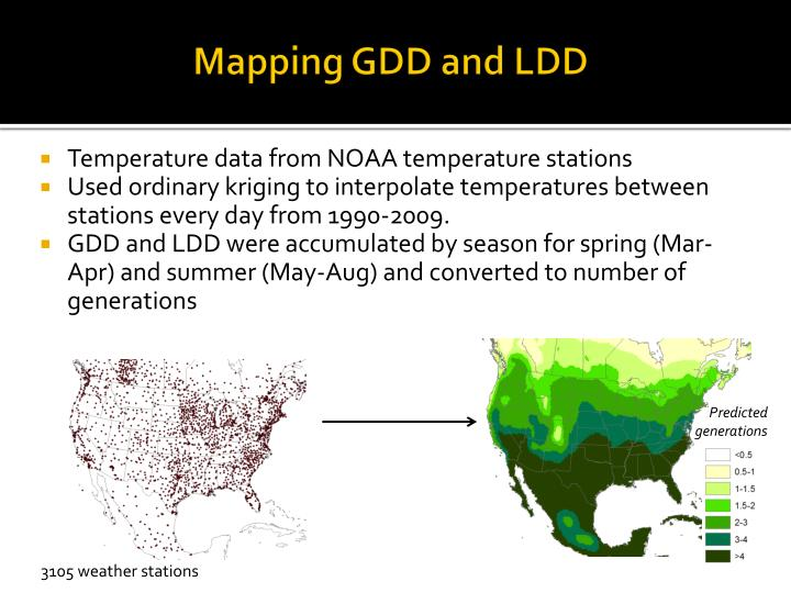 Mapping GDD and LDD