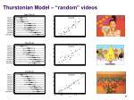 thurstonian model random videos
