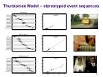 thurstonian model stereotyped event sequences
