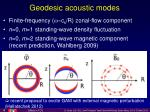 geodesic acoustic modes