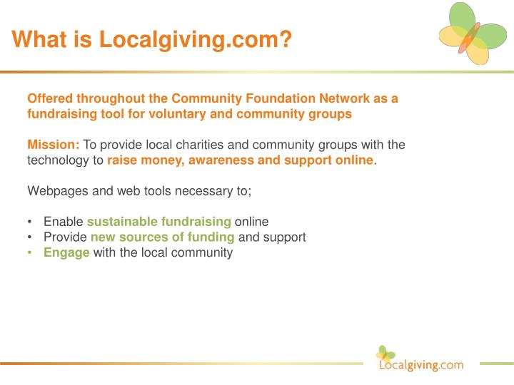 what is localgiving com n.