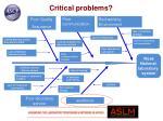 critical problems