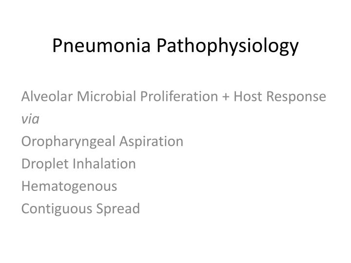 pathophysiology pneumonia Hospital-acquired pneumonia (hap) is one of the most common causes of nosocomial infection, morbidity, and mortality in hospitalized patients.