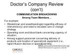 doctor s company review con t