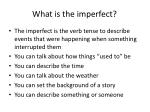 what is the imperfect