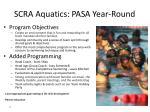 scra aquatics pasa year round