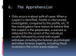 6 the apprehension