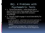obj 4 problems with psychometric tests