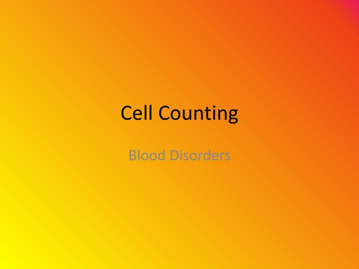 cell counting n.