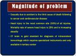 magnitude of problem