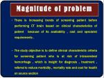 magnitude of problem1