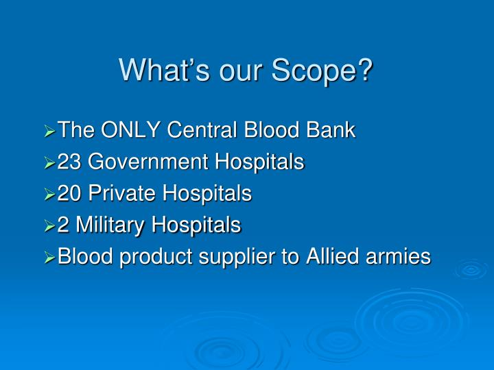 What's our Scope?