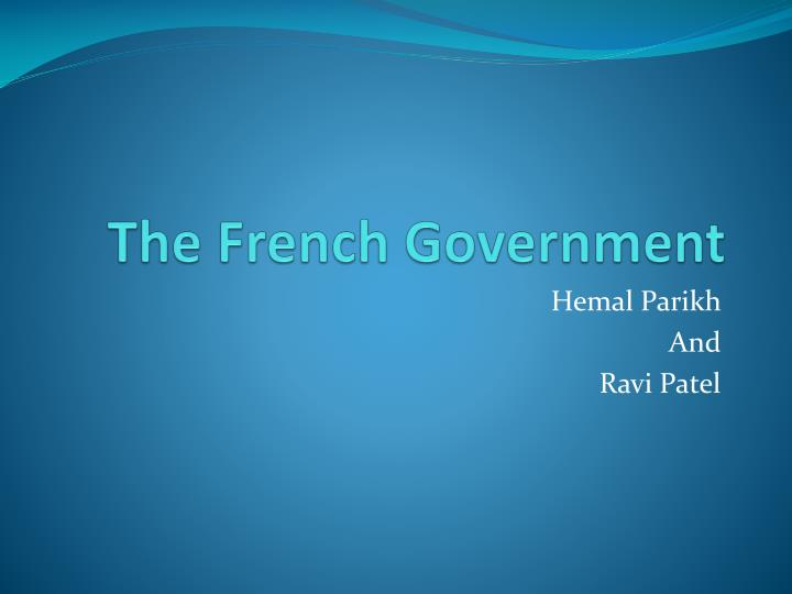 the french government n.