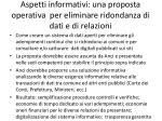 aspetti informativi una proposta operativa per eliminare ridondanza di dati e di relazioni