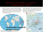 what tectonic plates caused the earthquake in japan