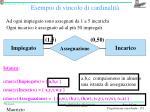 esempio di vincolo di cardinalit1
