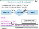esempio di vincolo di cardinalit2