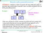 regole sulla generalizzazione