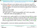 relazione isa e generalizzazioni tra relazioni